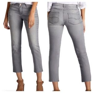 Lee Modern MidRise Gray Jeans Cropped Size 4M